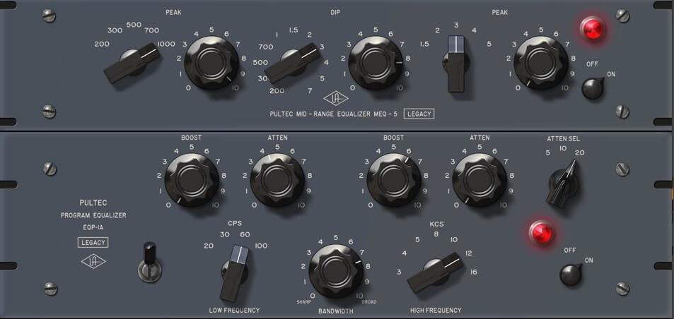 PultecProの設定画面