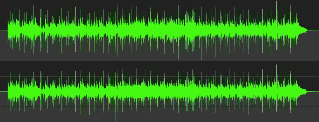 ミックスデータの波形