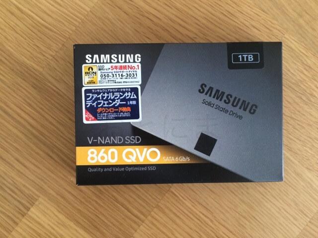 購入したSAMSUNG 860 QVO